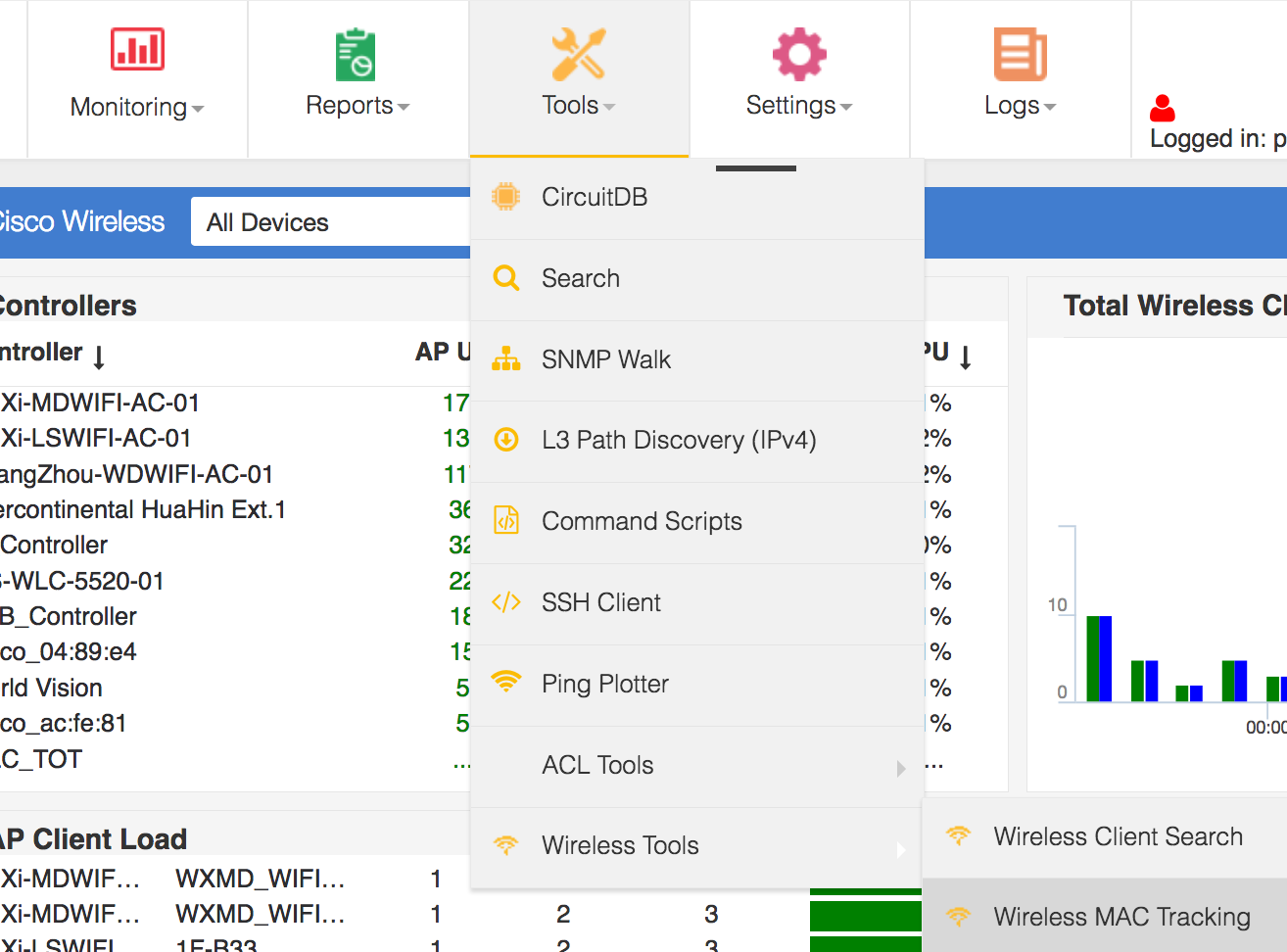 Cisco Wireless client search and tracking tools - Network Discovery