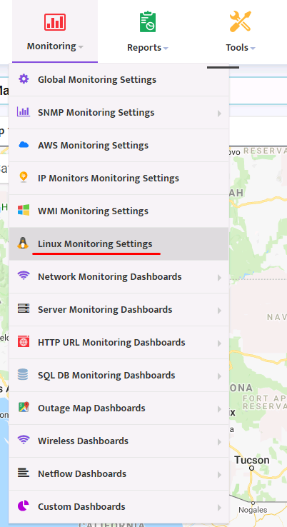 Configuring of Linux Monitoring in Nectus - Network Discovery